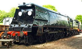 Winston Churchill. Bullied Class Pacific at Ropley, Mid Hants Railway The Watercress Line Hampshire Royalty Free Stock Image