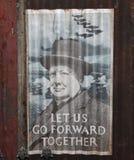 Winston Churchill WWII海报 库存图片