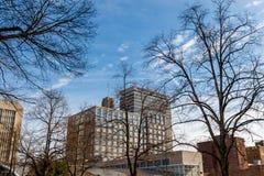 Winston-Salem céntrica, Carolina del Norte Imagen de archivo
