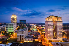 Winston-Salem, Carolina Skyline norte Foto de Stock Royalty Free