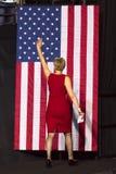 WINSTON-SALEM, NC - OCTOBER 27 , 2016: Democratic US Senate candidate Deborah Ross North Carolina introduces Hillary Clinton and M Royalty Free Stock Images