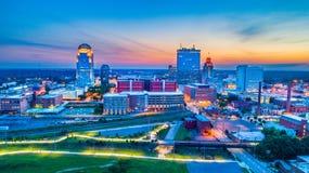 Winston-Salem North Carolina NC horisontantenn arkivfoto