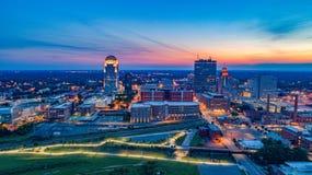 Winston-Salem North Carolina, USA horisontantenn fotografering för bildbyråer