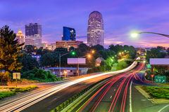 Winston-Salem, North Carolina. USA skyline Stock Images