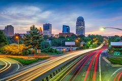 Winston-Salem, North Carolina, USA. Skyline Royalty Free Stock Image