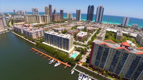 Winston Towers Sunny Isles Beach stock footage
