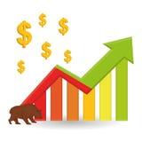Winstontwerp, geld en financiënconcept Royalty-vrije Stock Fotografie