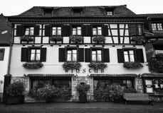 Winstub Alsatian Fotografía de archivo libre de regalías