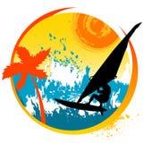 Winsurfing Stock Image