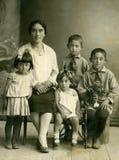 wintage οικογενειακού πορτρέ& Στοκ Εικόνες