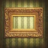 wintage обоев рамки золотистое Стоковые Фотографии RF
