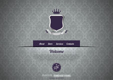 Wintage design web template. Luxury Website template. Logo copyspace. Vintage design Royalty Free Stock Photography