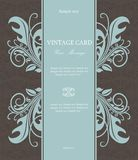 Wintage floral invitation card Royalty Free Stock Photos
