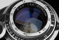 Wintage photo objective. Close-up Royalty Free Stock Image