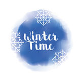 Winte time and snow Stock Photo