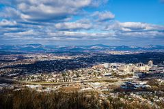 A Winter's View of the Roanoke Valley, Virginia, USA - 2 Royalty Free Stock Photos