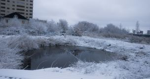 Winter湖横向 库存图片