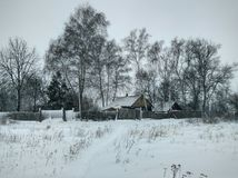 winter сельский Стоковое Фото