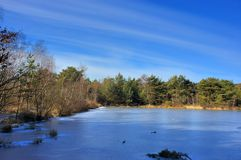 Winter. A landscape view of a nature domain in winter Stock Photo