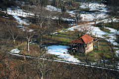 Winter. In winter the only house in the countryside. photographs were also made bursa turkey Stock Photography