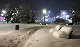 Winter. In czech republic, night city stock images