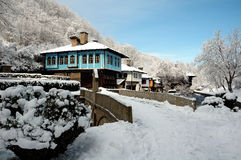 Winter. Landscape from Bulgaria ,Gabrovo ,Etara Stock Photo