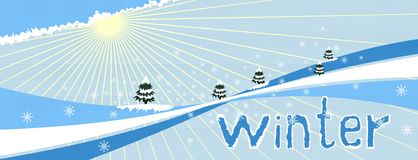 Winter. Abstract background. Vector illustration Royalty Free Stock Photo
