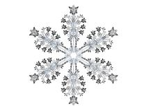Winter. 3D-modelled snowflake representing the notion of winter Stock Photos