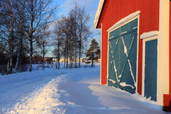 Winter. A cold winter day in the north part of Sweden Royalty Free Stock Photos