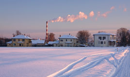Winter. Snow cold outdoors scene Royalty Free Stock Photo