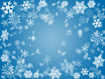 Winter 2 im Blau Stockbilder