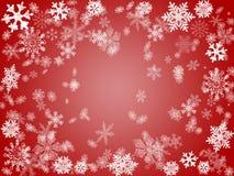 Winter 2 im Rot Stockbild