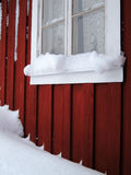 Winter. A snowy winter day in the north part of Sweden Stock Photo