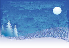Winter. Christmas/winter background with stylised trees Stock Photography