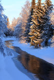 Winter. Beautiful river that flows in winter Stock Images