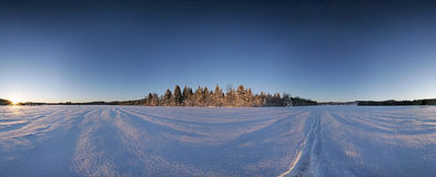 Winter. Panorama Royalty Free Stock Photography