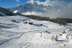Winter. In Italian Alps, Landscape Royalty Free Stock Images