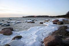 Winter. Snow waves of Baltic sea in the winter Stock Image