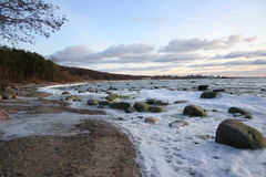 Winter. Snow waves of Baltic sea in the winter Royalty Free Stock Photography
