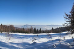Winter. At mountains - beskid - Poland Stock Images
