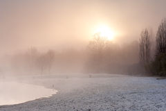 Winter湖 库存图片