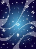 Winter. Design with high detailed snowflakes and waves. Vector llustration Stock Photos