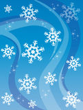 Winter. Background with high detailed snowflakes and line. New Year's and Christmas design Stock Images
