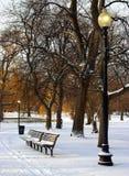 Winter. Boston Common in winter Stock Images