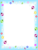 Winter. Theme frame on a Letter paper format, vector Royalty Free Stock Photo