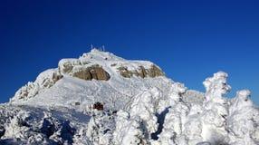 Winter. Landscape in Ceahlau mountains Stock Photos