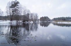 Winter湖 图库摄影