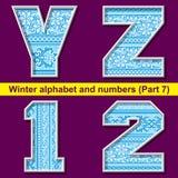 Winter ABC. Part 7 Royalty Free Stock Photo