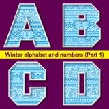 Winter ABC. Part 1 Royalty Free Stock Photos