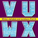 Winter ABC. Part 6 Royalty Free Stock Image